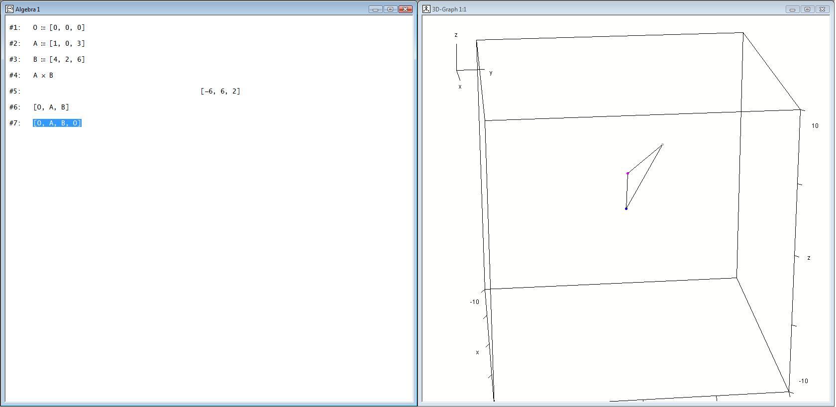 Vektoren in derive 3d for Fenster 3d zeichnen